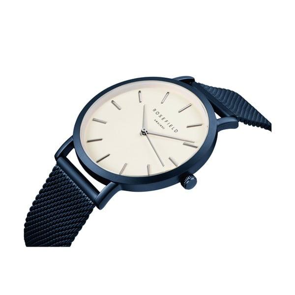 Biało-niebieski zegarek damski Rosefield The Mercer
