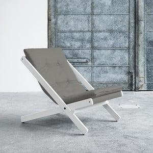 Fotel składany Karup Boogie White/Granite Grey