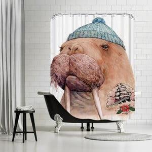 Zasłona prysznicowa Tattooed Walrus, 180x180 cm