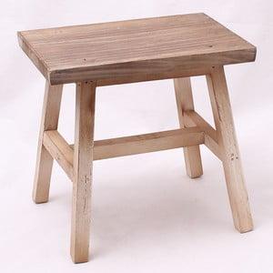 Drewniany taboret, jasny
