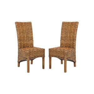 Zestaw 2 krzeseł ratanowych Isla