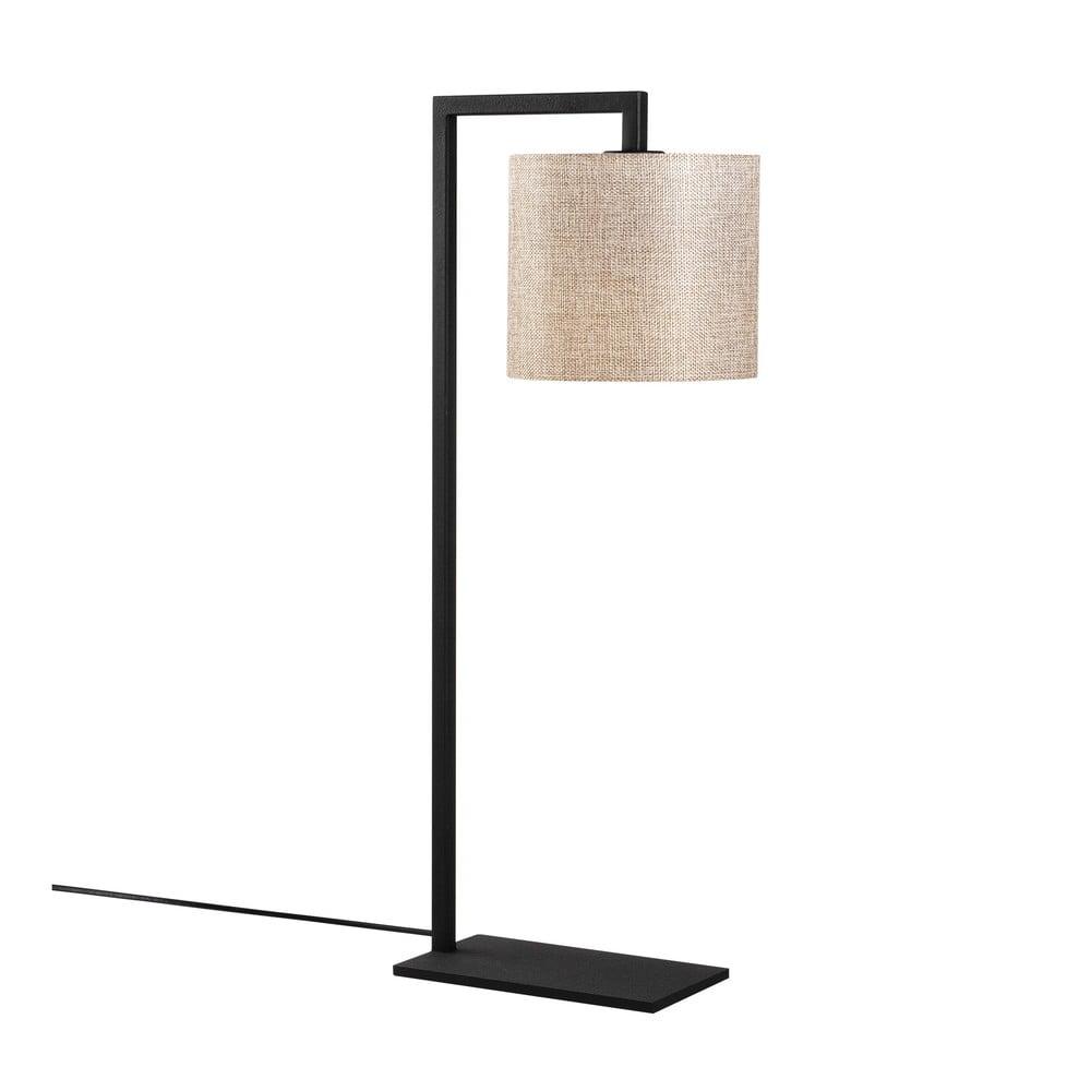 Czarno-beżowa lampa stołowa Opviq lights nafil