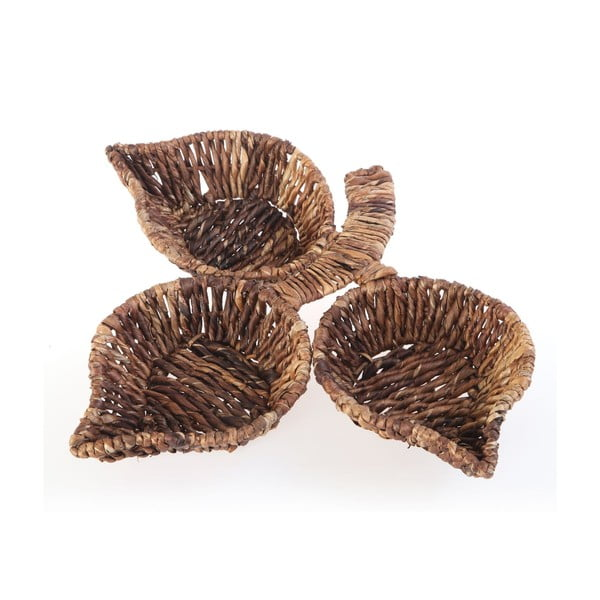 Wiklinowe miski Leaf Snack Brown