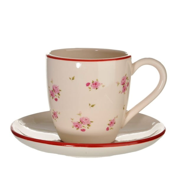 Ceramiczna filiżanka ze spodkiem Rose