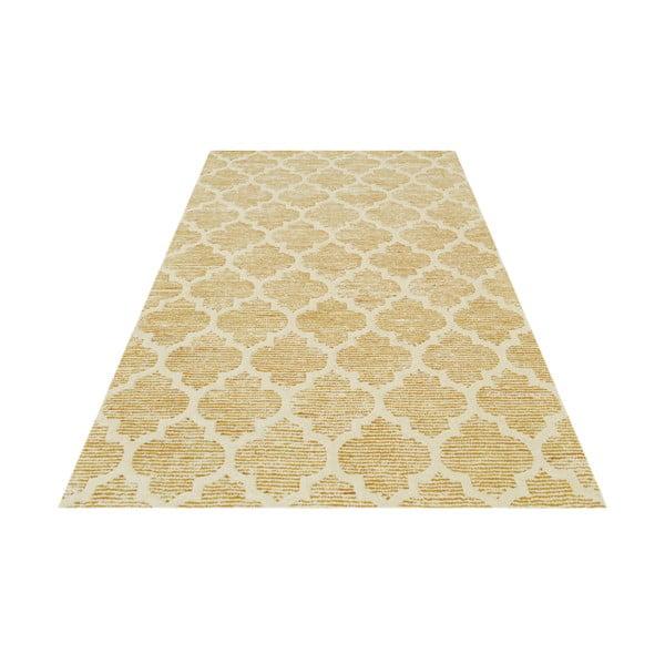 Żółty dywan tuftowany ręcznie Bakero Diamond, 153x244 cm