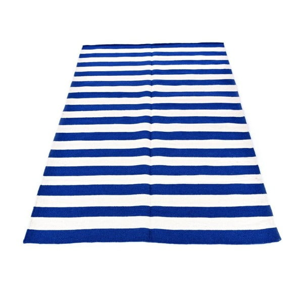 Dywan wełniany Geometry Stripes Dark Blue, 160x230 cm