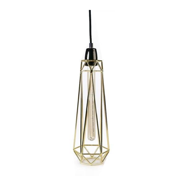 Złota lampa wisząca z czarnym kablem Filament Style Diamond #2