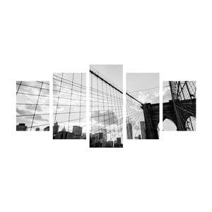 Wieloczęściowy obraz Black&White Bridge, 100x50 cm