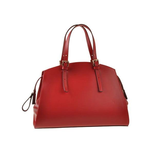 Skórzana torebka Aston, czerwona
