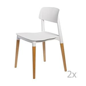 Zestaw 2 krzeseł D2 Base, białe