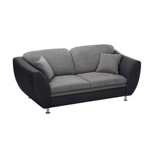 Czarno-Szara sofa 3-osobowa Florenzzi Maderna