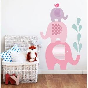 Naklejka dekoracyjna na ścianę Słonie