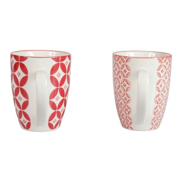 Zestaw 4 porcelanowych kubków Rubis