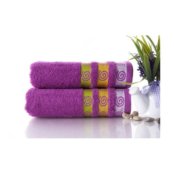 Zestaw 2 ręczników Truva Lilac, 50x90 cm