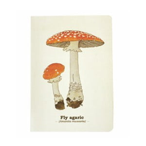 Notes Gift Republic Toadstool Mushroom, rozm. A5