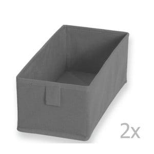 2 pudełka materiałowe Drawer Grey, 13x28 cm