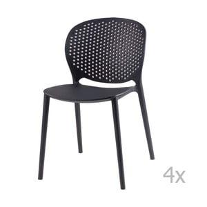 Zestaw 4 ciemnoszarych krzeseł sømcasa Betsy