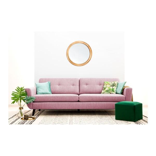 Jasnoróżowa sofa 3-osobowa Vivonita Harlem XL