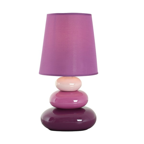 Lampa stołowa Stoff, fioletowa