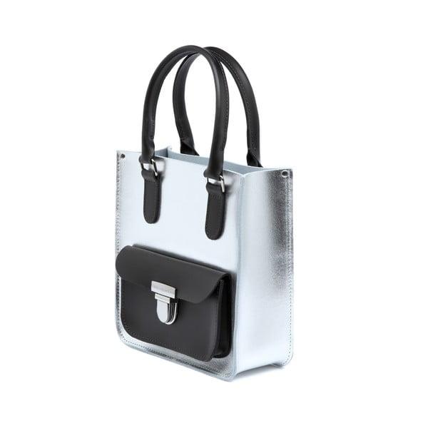 Skórzana torebka Taylor Mini Silver/Chocolate