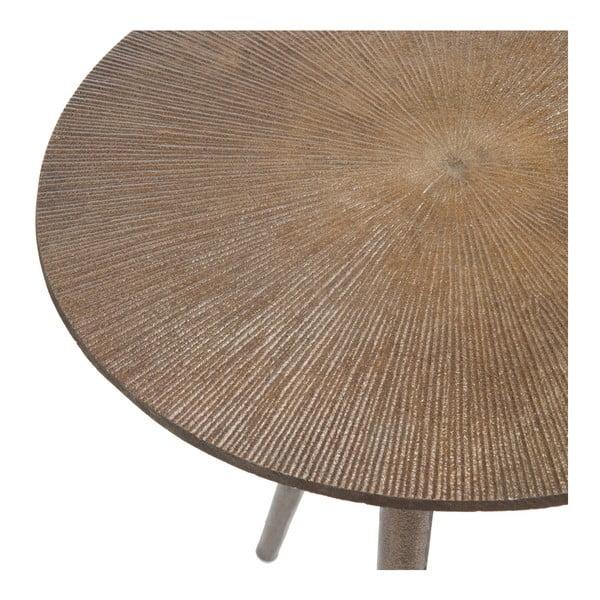 Metalowy   stolik Alu, jasny
