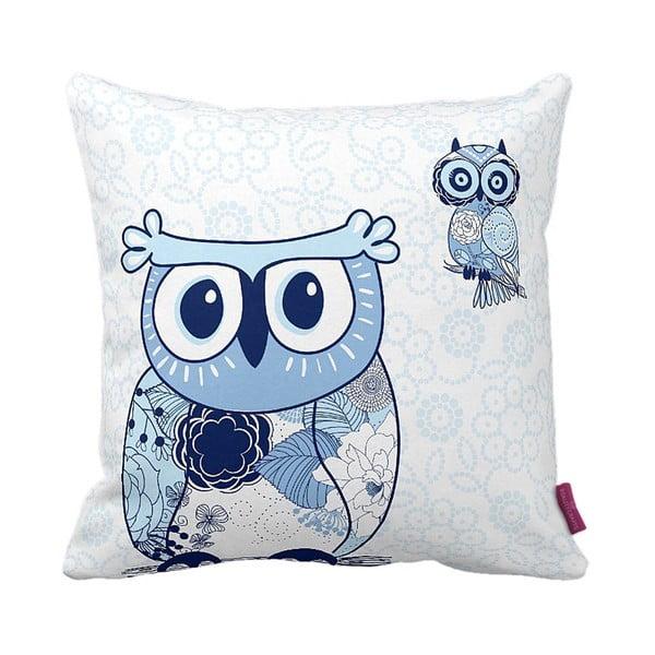 Poduszka Blue Owl, 43x43 cm