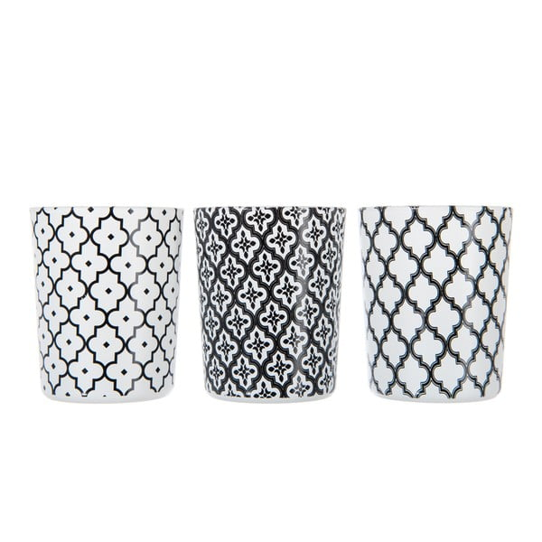 Zestaw trzech świeczników Black&White