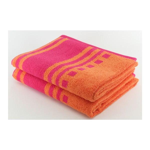 Komplet 2 ręczników Sunrise, 70x140 cm