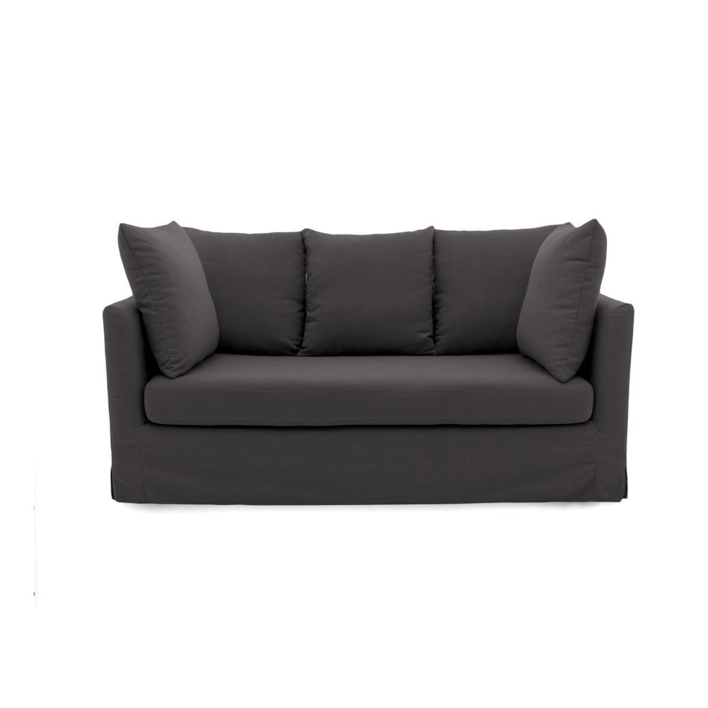 Antracytowa sofa trzyosobowa Vivonita Coraly