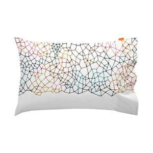 Zestaw 2 bawełnianych poszewek na poduszki Blanc Net, 50x80 cm