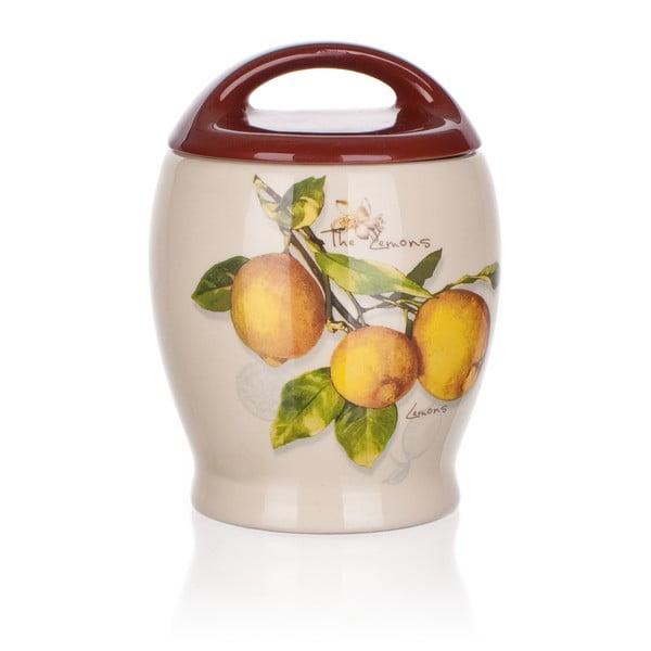 Ceramiczny pojemnik Banquet Lemon, 15 cm