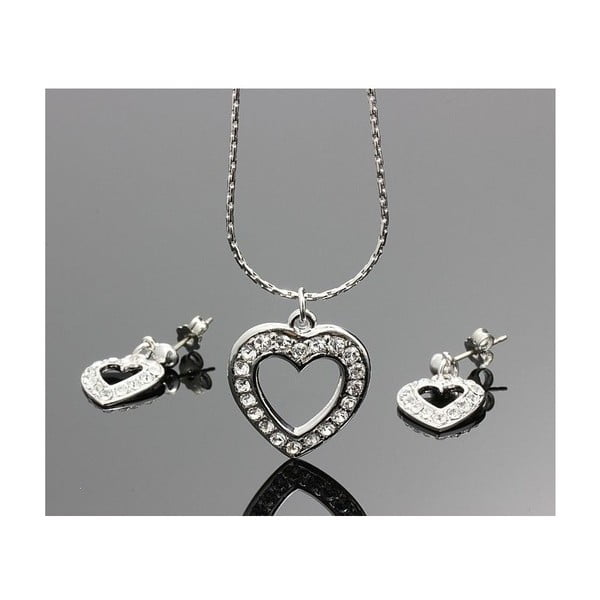 Komplet Swarovski Elements Real Heart