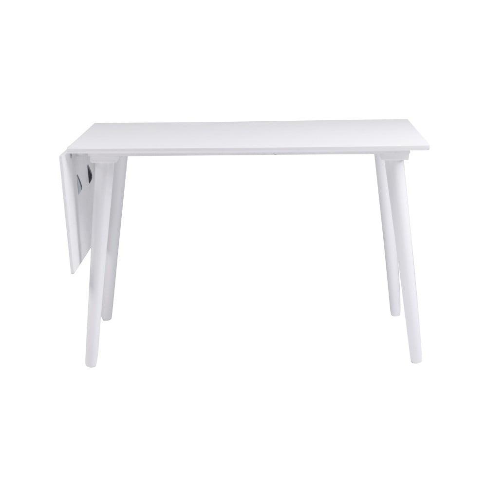 Biały stół z litego drewna dębowego Rowico Lotte Leaf, 120x80cm