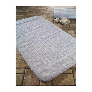Biały dywanik łazienkowy Confetti Bathmats Cotton Stripe, 60x100 cm