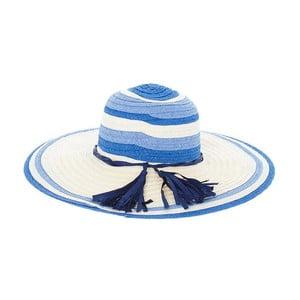 Kapelusz słomkowy Blue Stripes
