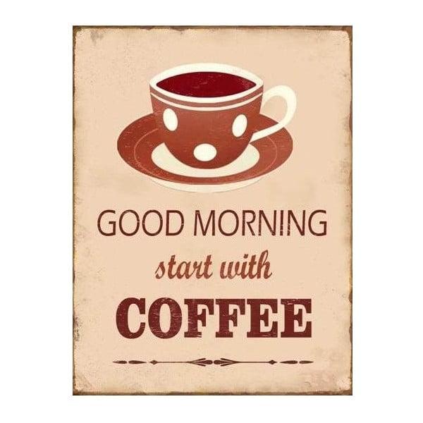 Blaszana tablica Good Morning 35x25 cm