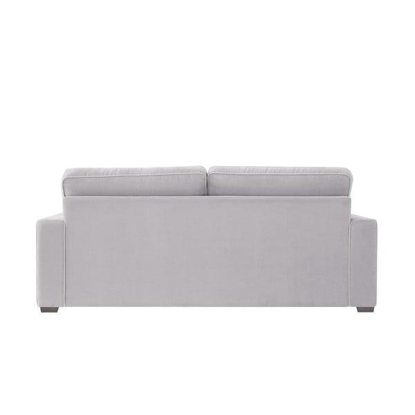 Sofa trzyosobowa Jalouse Maison Serena, jasnoszara