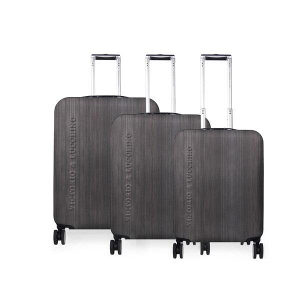 Zestaw 3 walizek Victorio Negro