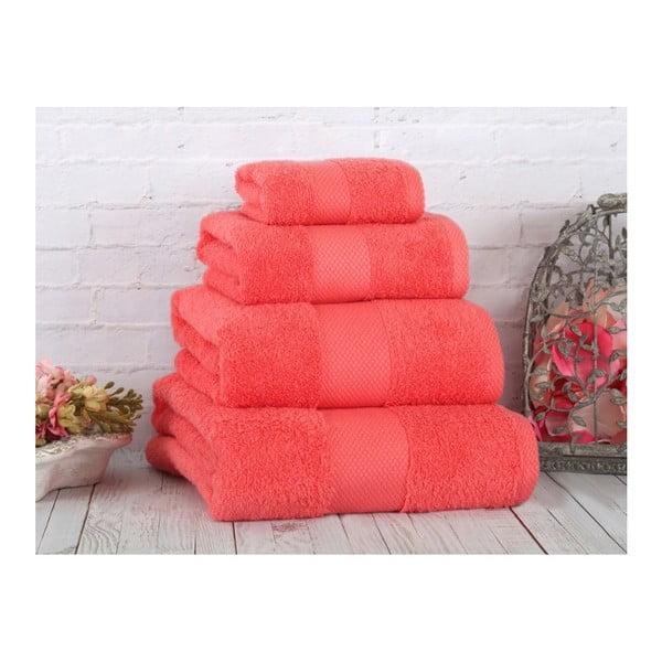 Koralowy ręcznik Irya Home Coresoft, 70x130 cm