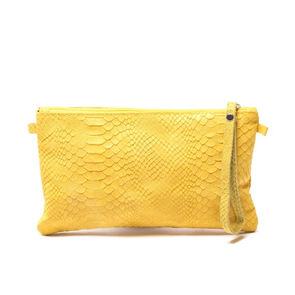 Torebka skórzana Carlita, żółta