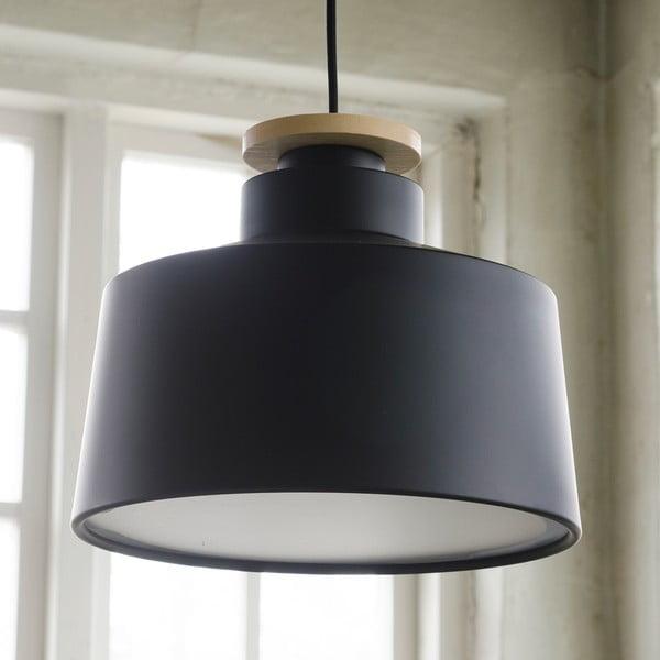 Żyrandol Street M, czarny z czarnym kablem