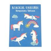 Zestaw 2 arkuszy ze zmywalnymi tatuażami Rex London Magical Unicorn