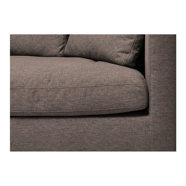 Brązowa sofa 3-osobowa Vivonita Hugo