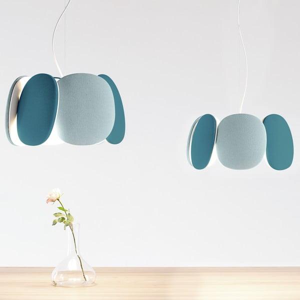 Lampa sufitowa Bloemi Petroleum, zielony/jasnoniebieski, 45 cm
