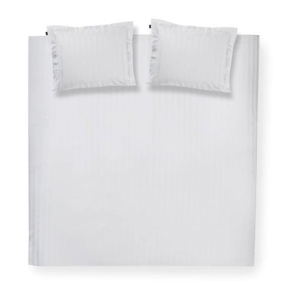 Biała bawełniana pościel dwuosobowa Damai Linea White, 200x200cm