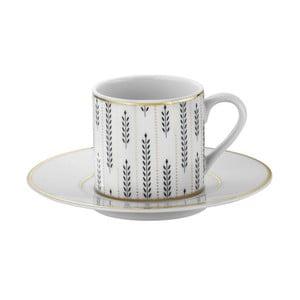 Zestaw 6 filiżanek porcelanowych ze spodkami Kutahya Decadent, 50 ml