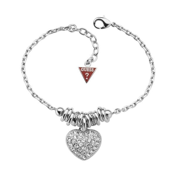 Bransoletka GUESS Silver Heart