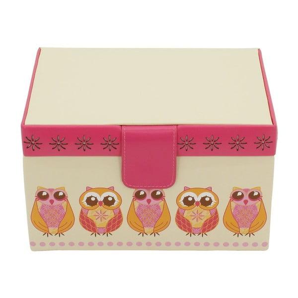 Beżowa szkatułka na biżuterię Friedrich Lederwaren Owlivia