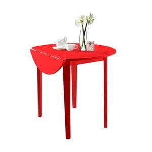 Czerwony stół z częściowo rozkładanym blatem Støraa Trento Quer, ⌀92cm