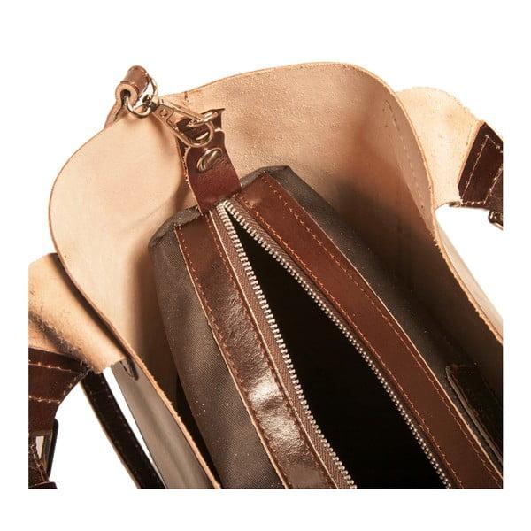 Ciemnobrązowa torebka skórzana Andrea Cardone Edoardo